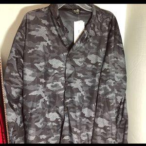 Camouflage men's windbreaker jacket